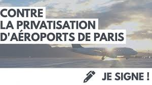 Signons la pétition contre la privatisation d'Aéroports de Paris !