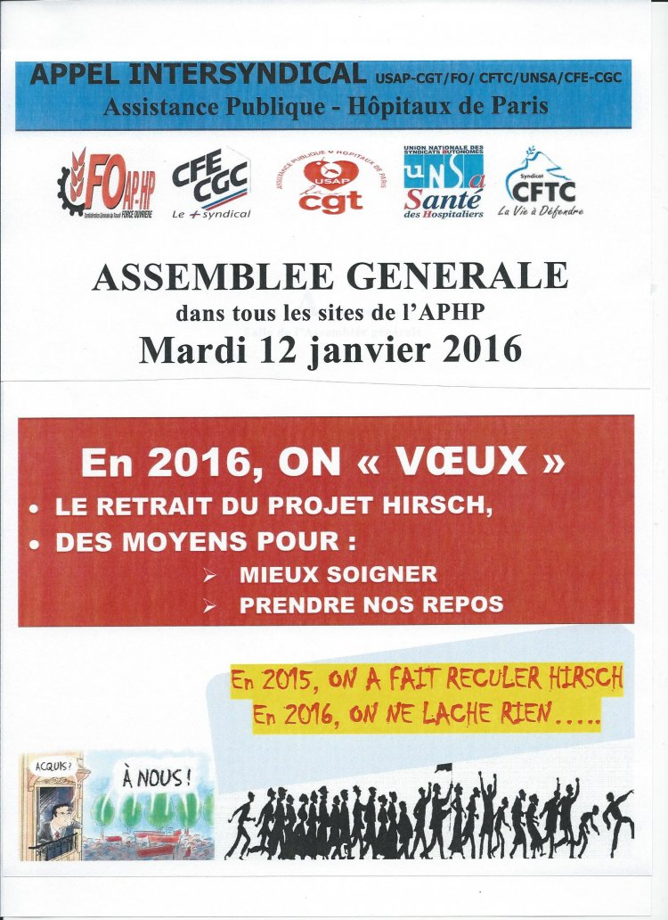 affiche IS APHP mobilisation AG