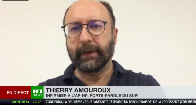 Thierry Amouroux, infirmier, SNPI, RT, 2020
